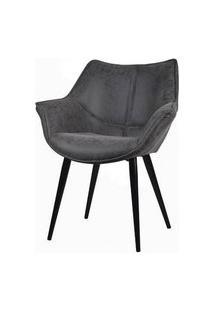 Cadeira Anne Corino Preto Vintage Base Preta 82Cm - 62931 Preto