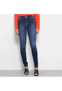 8710ac7e2 ... Calça Jeans Skinny Coca-Cola Estonada Cintura Alta Feminina - Feminino -Azul