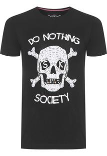 Camiseta Masculina Nothing Society - Preto