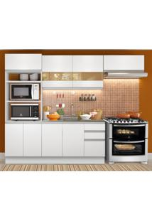 Cozinha Compacta Madesa Marselha 8 Portas 3 Gavetas (Sem Tampo E Pia)