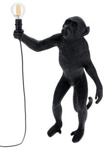 Seletti Abajur Monkey Standing - Preto
