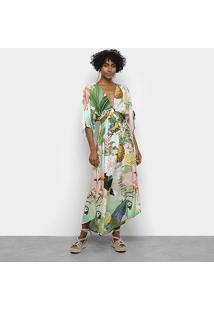 Vestido Farm Cropped Verão Tropical - Feminino-Estampado