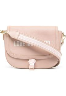Love Moschino Logo Strapping Cross-Body Bag - Rosa