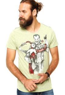 Camiseta Fashion Comics Estampada Verde