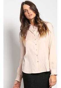 Camisa Com Franzido- Rosa Clarovip Reserva