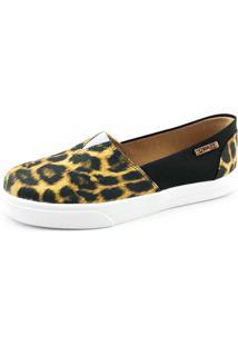 Tênis Slip On Quality Shoes Feminino 002 Animal Print/Preto 37
