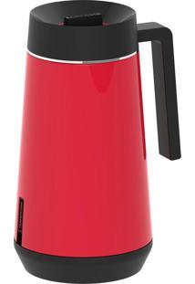 Garrafa Térmica Tramontina Exata Em Aço Inox Vermelho Com Infusor 500 Ml 61644056