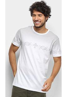 Camiseta T-Shirt Gajang Estonada Masculina - Masculino-Branco