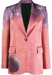 Pinko Blazer Com Estampa - Rosa