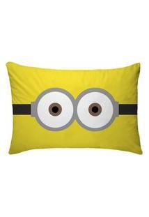 Fronha Para Travesseiros Nerderia E Lojaria Olhos Minion Colorido