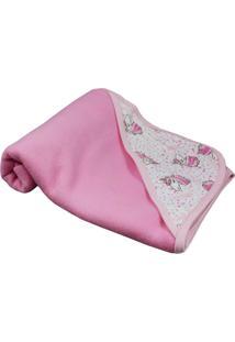 Cobertor De Bebê Em Soft Estampa Unicórnio Pink Pink