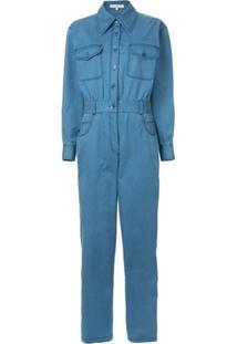 Tibi Macacão Jeans - Azul