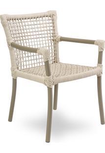 Cadeira Com Braço Dora Área Externa Trama Corda Náutica Estrutura Alumínio Eco Friendly Design Scaburi