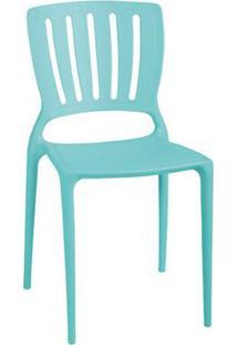 Cadeira Tramontina Sofia Encosto Vazado Azul Claro De Cozinha Varanda