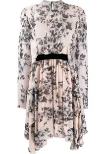 Philosophy Di Lorenzo Serafini Floral Long-Sleeve Dress - Rosa