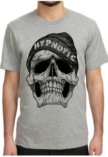 Camiseta Hypnotic Caveira Cinza Mescla
