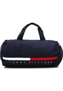 Bolsa Tommy Hilfiger Monograma Azul-Marinho