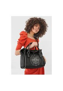Bolsa Tiracolo Hand Bag Tribal Preto