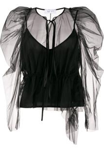 Act N°1 Ruffle Top - Preto