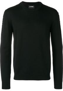 Les Hommes Drawstring Sweater - Preto