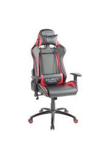 Cadeira Gamer Husky Gaming Blizzard, Preto E Vermelho, Com Almofadas, Reclinável, Descanso De Braço 2D - Hbl-Br