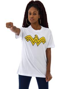 Camiseta Korova Pixel Wonder Woman Branca