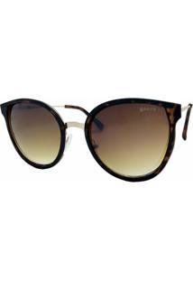 Óculos De Sol Fashion Acetato Garnet Tartaruga Feminino - Feminino-Marrom