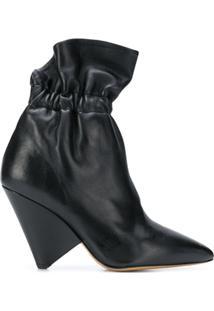 Isabel Marant Ankle Boot 'Lileas' De Couro - Preto