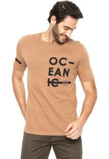 Camiseta Hering Slim Caramelo