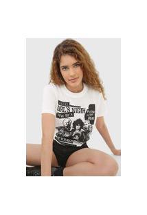 Camiseta Colcci Girl'S Night Off-White
