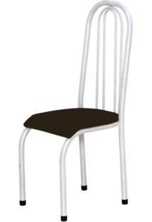 Cadeira Marcheli Alta 0.123 Anatômica Branco/Tabaco
