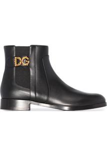 Dolce & Gabbana Bota Chelsea Com Logo - Preto