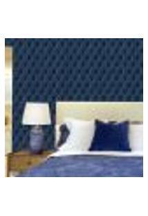 Papel De Parede Autocolante Rolo 0,58 X 3M - Captone 0146 Azul