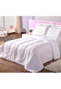 Kit Edredom Casal Queen Dôda Baby + Porta Travesseiros Nas Estrelas Rosa
