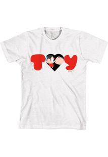 Camiseta Bandup Geek Turma Da Mônica Toy Love Branco