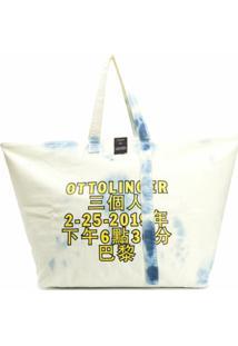 Ottolinger Bolsa Tote Oversized Com Estampa De Logo - Neutro