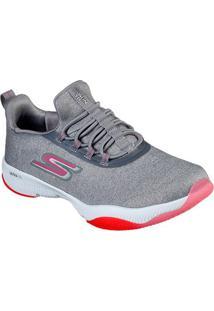 Tênis Skechers Go Run Tr- Exception Feminino - Feminino-Cinza+Pink