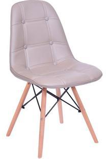 Cadeira Eames Botonãª- Fendi & Madeira Clara- 83X44X3Or Design