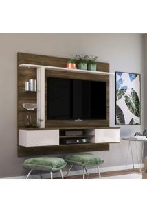 Painel Para Tv Até 60 Pol Colibri Salinas Canela Rústico E Off White