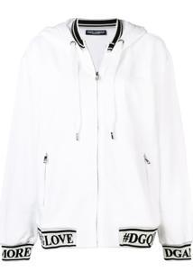 Dolce & Gabbana Blusa De Moletom Detalhe De Logo - Branco