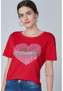 Blusa Vermelha Ampla Love