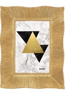 Porta Retrato Em Poliresina Dourado 10X15
