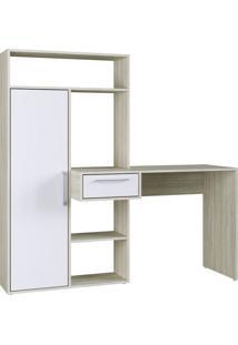 Escrivaninha Modern Office 1 Gv Nogal E Branca
