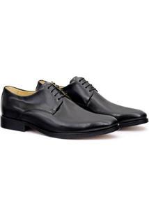 Sapato Social Couro Adolfo Turrion Masculino - Masculino-Preto
