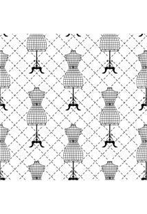 Papel De Parede Adesivo Manequim Costura (0,58M X 2,50M)