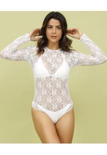 Body Em Renda- Branco- Mos Beach Wearmos Beach Wear