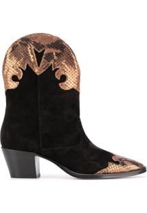 Paris Texas Ankle Boot Western - Preto