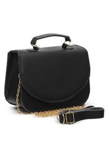 Bolsa Transversal Mini Bag Carmelo Shoes Lisa Preta