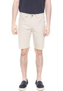 Bermuda Sarja Calvin Klein Jeans Reta Color Bege