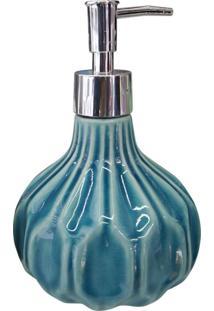 Saboneteira De Cerâmica Azul